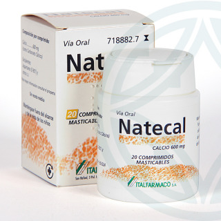 Natecal 20 comprimidos masticables