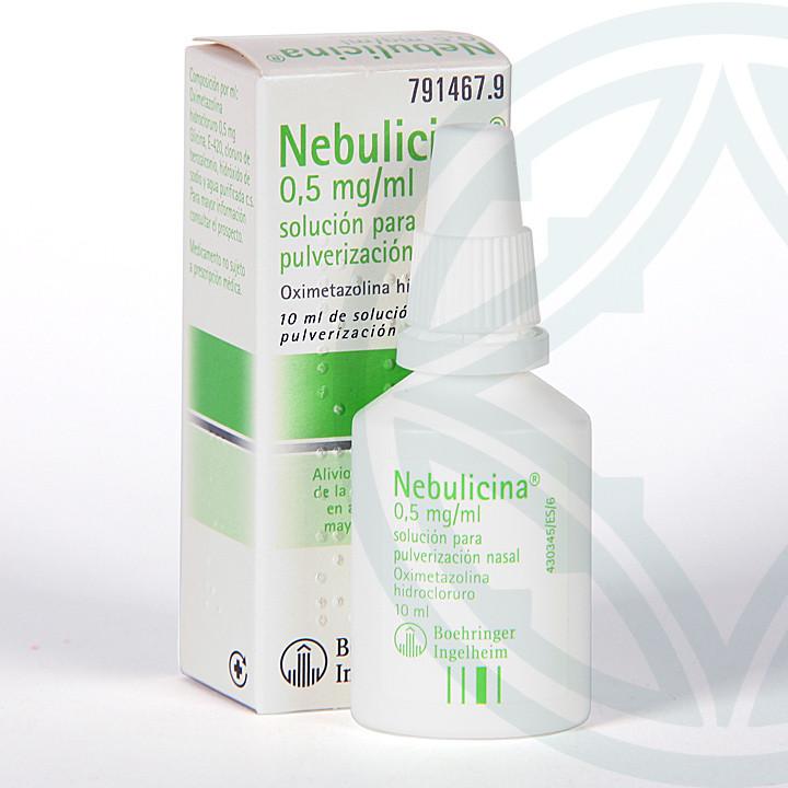 Nebulicina 0,5 mg/ml nebulizador 10 ml