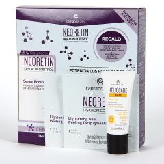 Neoretin Discrom Sérum Booster 30 ml + Regalo Heliocare Water gel 15 ml + 2 Discos de Neoretin Peeling
