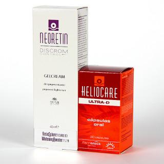 Neoretin Gelcrema SPF50 + Heliocare Ultra D cápsulas Pack + CUPÓN REGALO 10€
