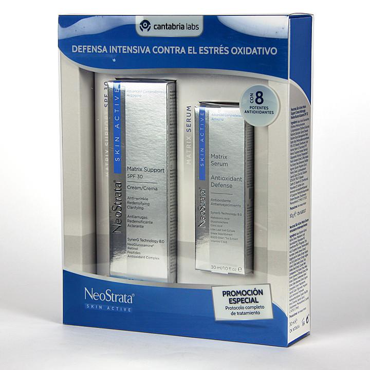 Neostrata Skin Active Crema Matrix + Serum Matrix Pack Duplo