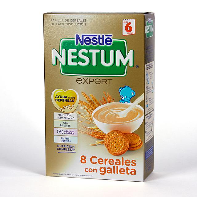 Nestle Nestum Expert 8 Cereales con Galleta y Bífidus 600 g