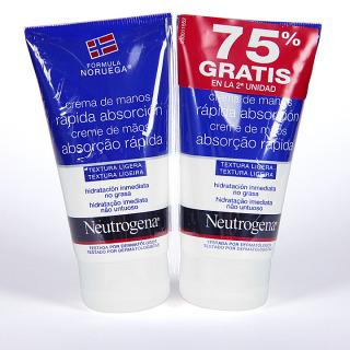 Neutrogena Crema de Manos Rápida Absorción Duplo 75 ml