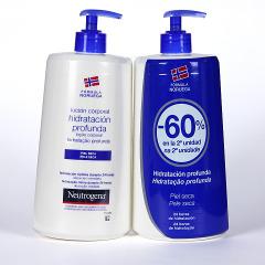 Neutrogena Loción Corporal hidratación profunda piel seca Duplo 750 ml Promoción 2x1