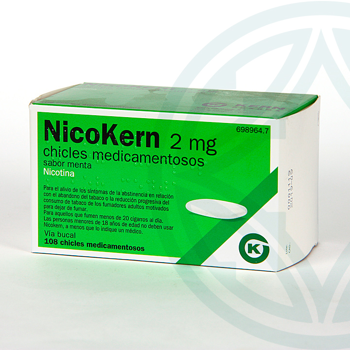 Nicokern 2 mg 108 chicles sabor menta