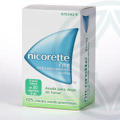 Nicorette 2 mg 105 chicles medicamentosos
