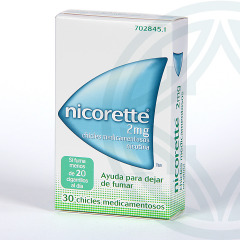 Nicorette 2 mg 30 chicles medicamentosos