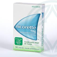 Nicorette 4 mg 30 chicles medicamentosos