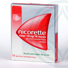 Nicorette Clear 10 mg/16 horas 14 parches