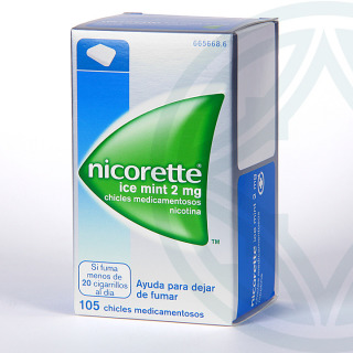 Nicorette Ice Mint 2 mg 105 chicles medicamentosos
