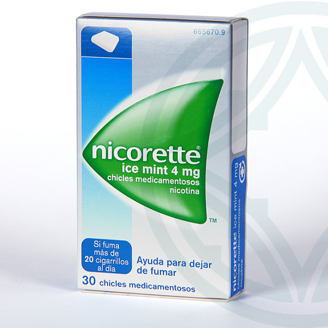 Nicorette Ice Mint 4 mg 30 chicles medicamentosos