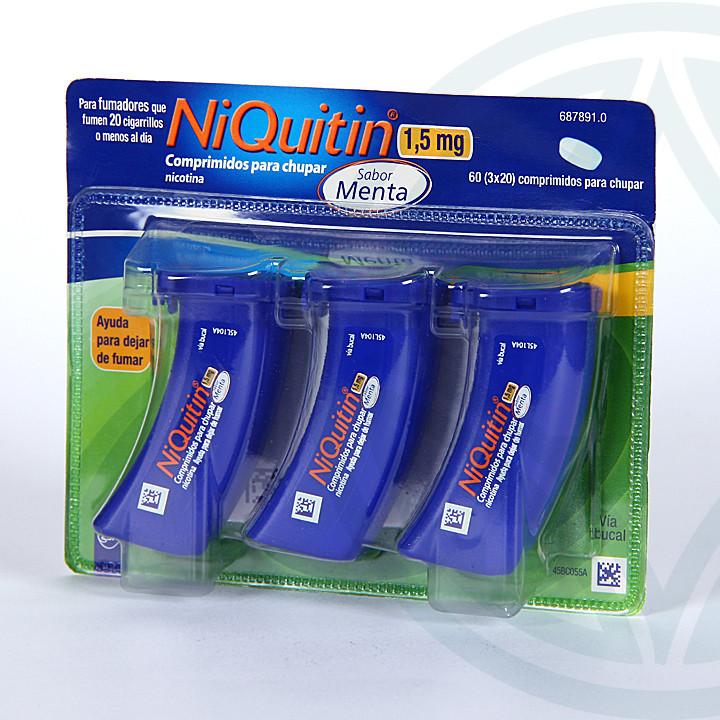 Niquitin 1,5 mg 60 comprimidos para chupar sabor menta