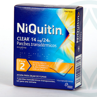 Niquitin Clear 14 mg/24 h 7 parches transdermicos