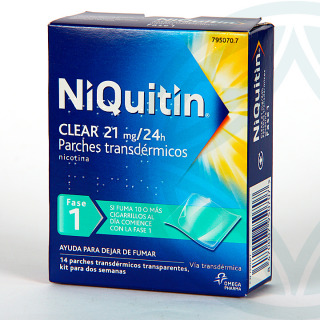 Niquitin Clear 21 mg/24h 14 parches transdermicos
