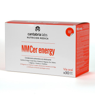 NMcer Energy 30 sobres + perlas Sabor Fresa