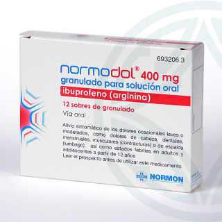 Normodol EFG 400 mg 12 sobres granulado