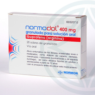 Normodol EFG 400 mg 20 sobres granulado