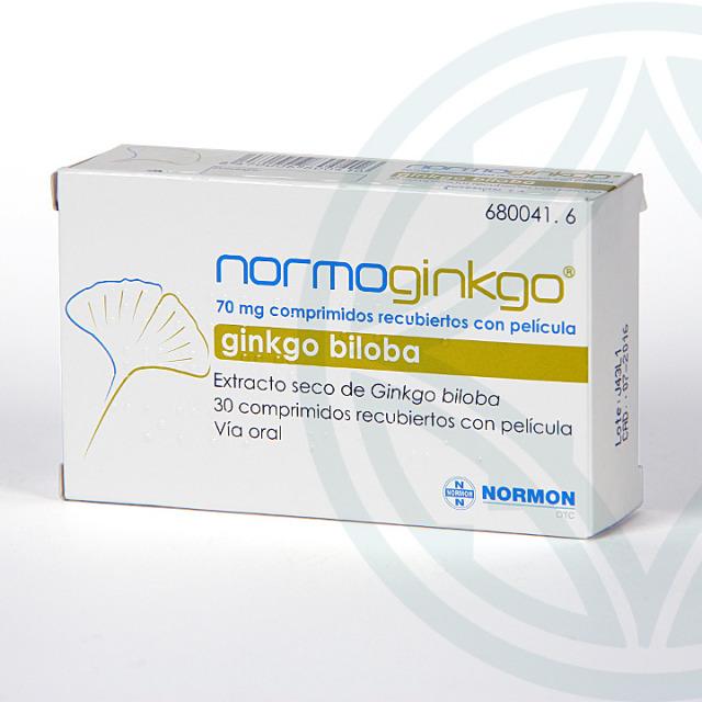 Normoginkgo 70 mg 30 comprimidos
