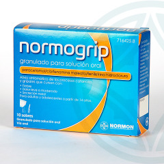 Normogrip 10 sobres granulado para solución oral