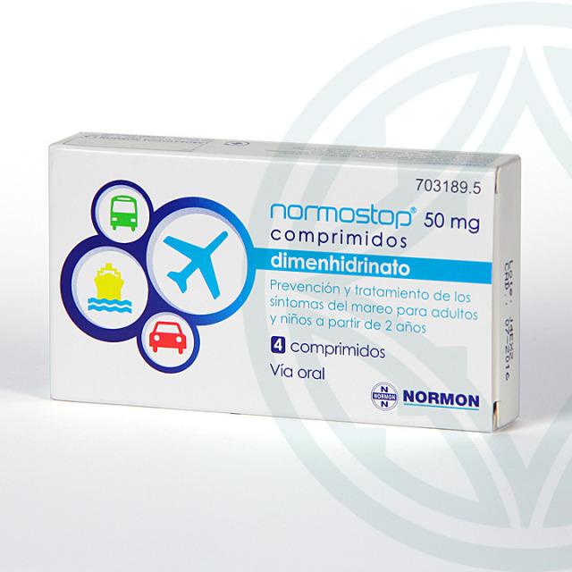 Normostop 50 mg 4 comprimidos