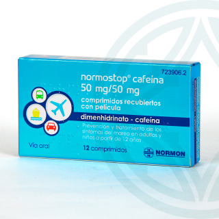Normostop cafeína 12 comprimidos
