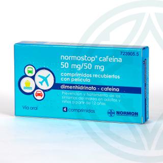 Normostop cafeína 4 comprimidos