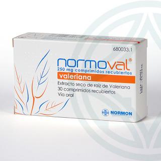 Normoval 250 mg 30 comprimidos