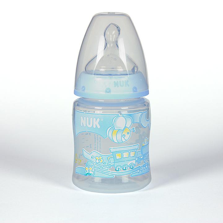 Nuk Biberon Azul Boca Ancha Tetina Anatómica Silicona T1M 0-6 meses 150ml