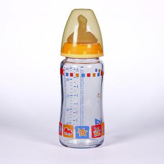 Nuk Biberón Cristal Boca Ancha Tetina Anatómica Látex T1M 0-6 meses 240 ml