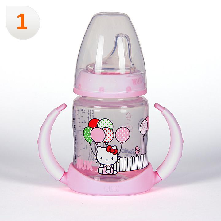 Nuk Biberón Entrena Hello Kitty Boquilla Blanda +6 meses 150 ml