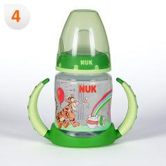 Nuk Biberón Entrena Winnie de Pooh Boquilla Blanda +6 meses 150 ml