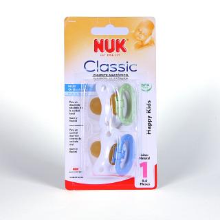Nuk Chupete Látex Classic Happy Kids T1 2 unidades