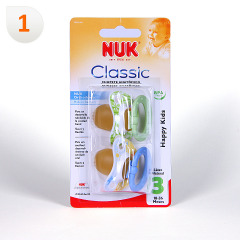 Nuk Chupete Látex Classic Happy Kids T3 2 unidades