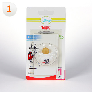 Nuk Chupete Látex Mickey Mouse T1 1 unidad