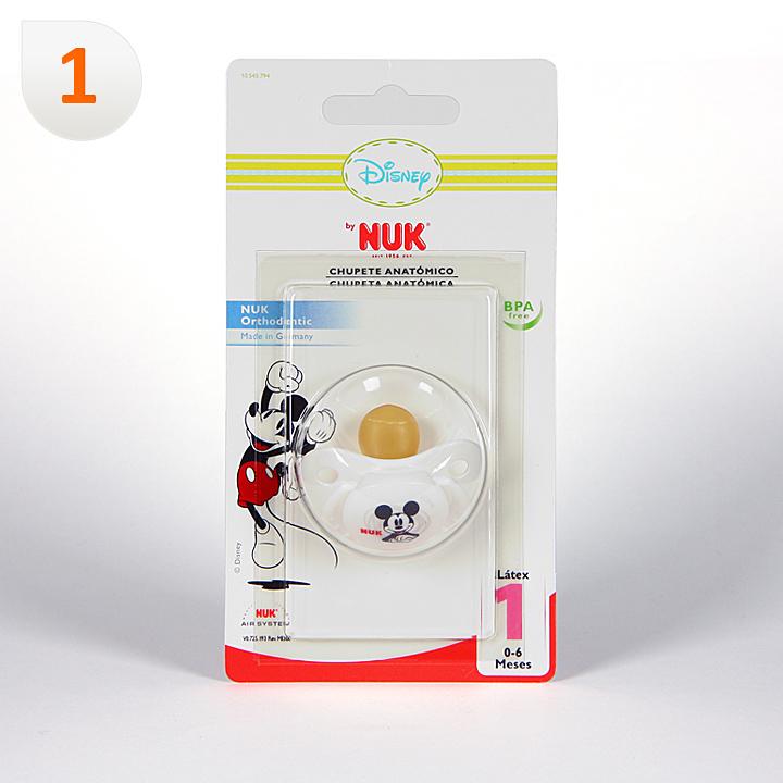Nuk Chupete Látex Mickey Mouse T1 1 unidad