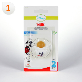 Nuk Chupete Látex Mickey Mouse T2 1 unidad