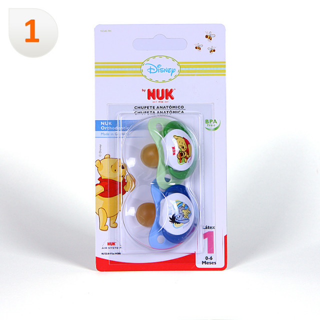 Nuk Chupete Látex Winnie de Pooh T1 2 unidades