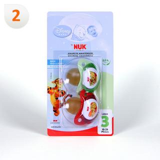 Nuk Chupete Látex Winnie de Pooh T3 2 unidades