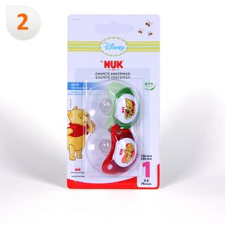 Nuk Chupete Silicona Winnie de Pooh T1 2 unidades