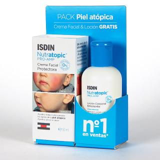 Nutratopic Pro-AMP Crema facial 50 ml + Nutratopic Loción Corporal 100 ml de regalo