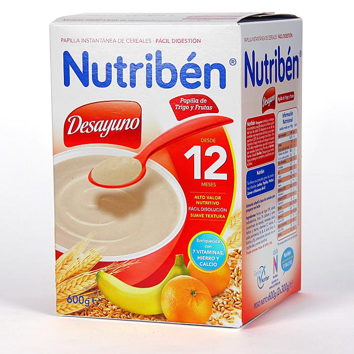 Nutriben Desayuno Papilla de Trigo y Frutas 600 g