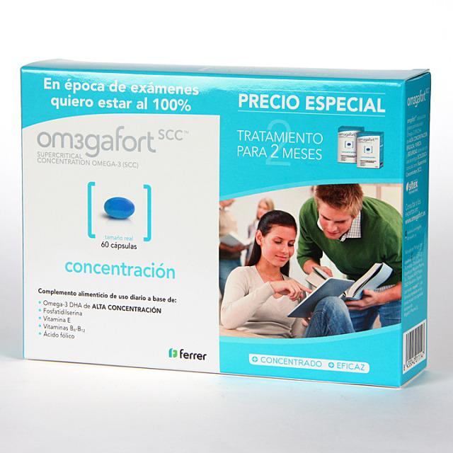 Omegafort Concentración 60 cápsulas Pack Duplo