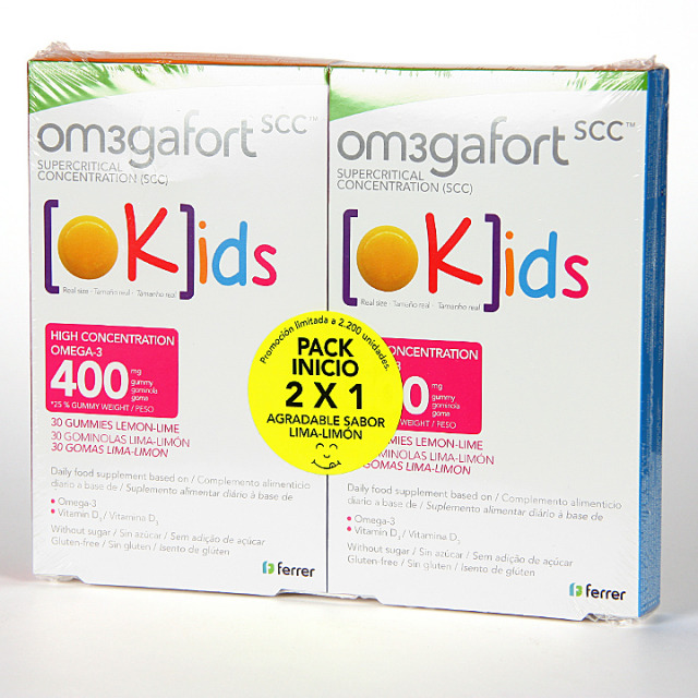 Omegafort Okids 60 Gominolas Pack Duplo