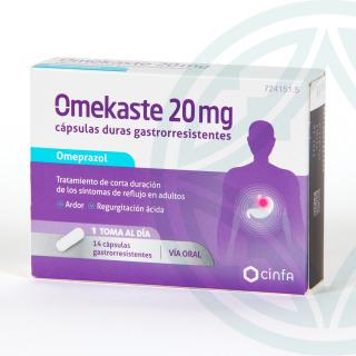 Omekaste 20 mg 14 cápsulas