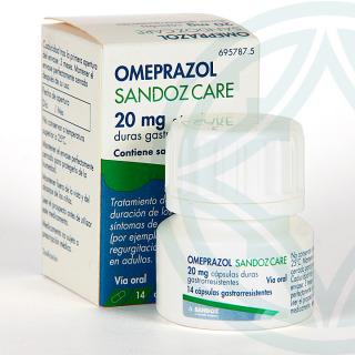 Omeprazol Sandoz Care EFG 20 mg 14 cápsulas frasco