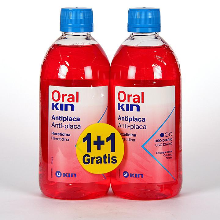 OralKin Antiplaca Colutorio 500 ml Duplo