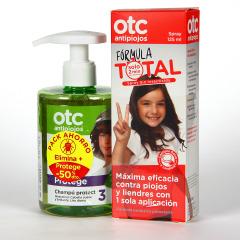 OTC Antipiojos Fórmula Total Spray 125 ml + Champú 300 ml 50% dto pack