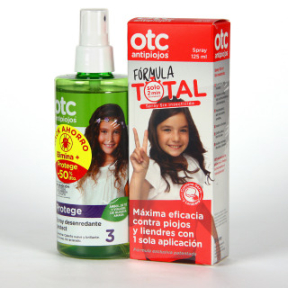 OTC Antipiojos Fórmula Total Spray 125 ml + Spray Desenredante Protect 50% DTO Pack