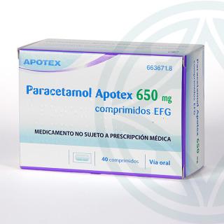 Paracetamol Apotex EFG 650 MG 40 comprimidos