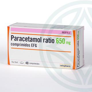 Paracetamol Ratio EFG 650 mg 40 comprimidos
